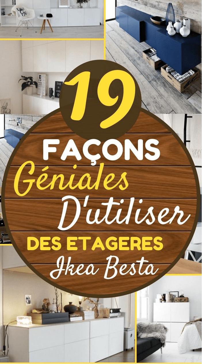 19 Façons Géniales D Utiliser Des étagères Ikea Besta